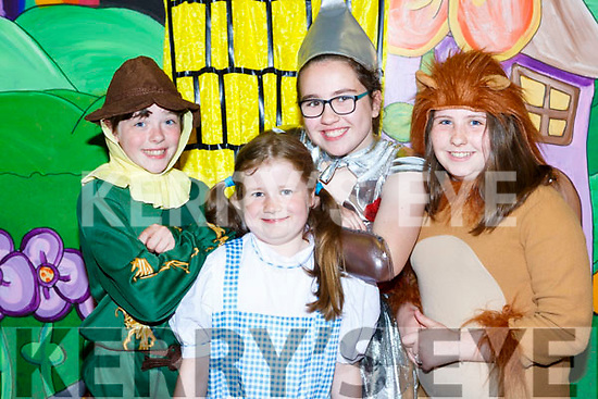 Dorothy and her three pals in The Wizard of Oz in Castleisland on Sunday l-r: Aoife O'Leary, Sarah O'Loughlin, Aine Murphy and Abbie O'Connell