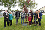 The family of Cameron Reilly at the tree planted in his memory. Photo:Colin Bell/pressphotos.ie