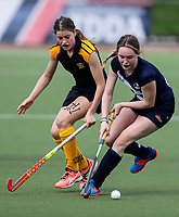 Auckland v Wellington. Action during the U-15 Premier Girls Hockey Nationals. North Harbour Hockey, Auckland, New Zealand. Monday 4 October 2017. Photo:Simon Watts / www.bwmedia.co.nz