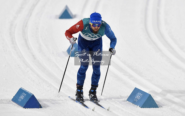Baptiste Gros (FRA). Mens sprint classic qualification. Cross country skiing. Alpensia Croos-Country skiing centre. Pyeongchang2018 winter Olympics. Alpensia. Republic of Korea. 13/02/2018. ~ MANDATORY CREDIT Garry Bowden/SIPPA - NO UNAUTHORISED USE - +44 7837 394578