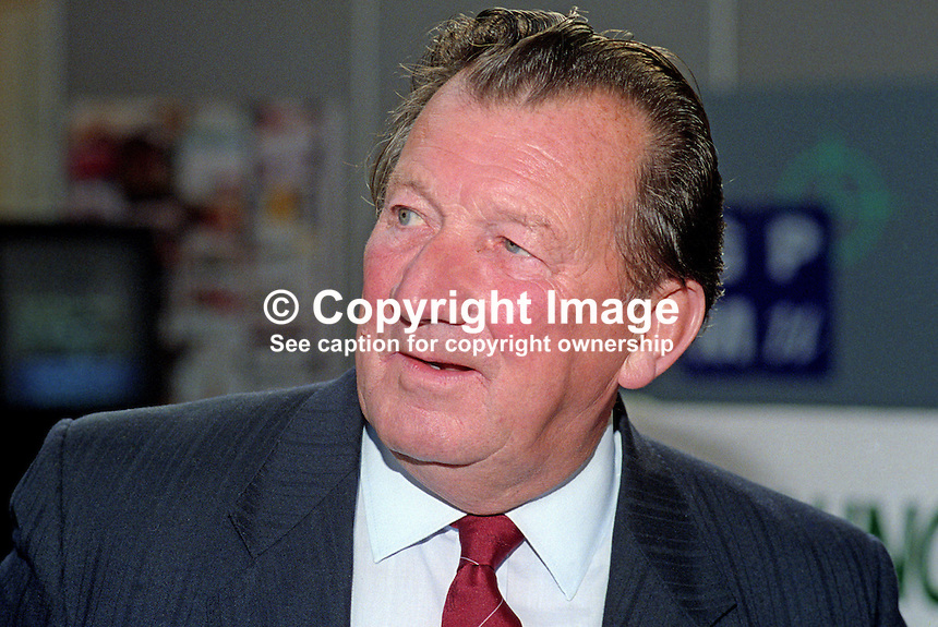 Ray Buckton, retired general secretary, ASLEF, trade union, UK, 199210031RB..Copyright Image from Victor Patterson, 54 Dorchester Park, Belfast, UK, BT9 6RJ..Tel: +44 28 9066 1296.Mob: +44 7802 353836.Voicemail +44 20 8816 7153.Skype: victorpattersonbelfast.Email: victorpatterson@me.com.Email: victorpatterson@ireland.com (back-up)..IMPORTANT: If you wish to use this image or any other of my images please go to www.victorpatterson.com and click on the Terms & Conditions. Then contact me by email or phone with the reference number(s) of the image(s) concerned.