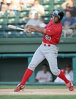 July 29, 2009: Outfielder Anthony Gose (24) of the Lakewood BlueClaws, Class A affiliate of the Philadelphia Phillies, in a game at Fluor Field at the West End in Greenville, S.C. Photo by: Tom Priddy/Four Seam Images