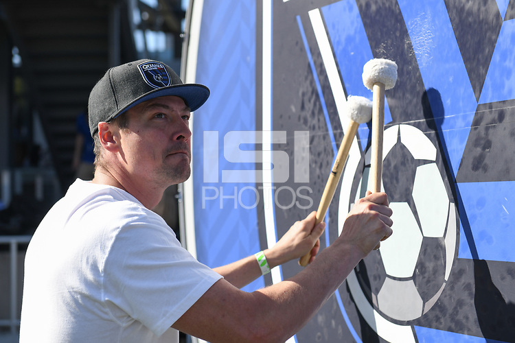 SAN JOSE, CA - FEBRUARY 29: Drum during a game between Toronto FC and San Jose Earthquakes at Earthquakes Stadium on February 29, 2020 in San Jose, California.