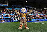 Bath rugby mascot Maximus. Amlin Challenge Cup Final, between Bath Rugby and Northampton Saints on May 23, 2014 at the Cardiff Arms Park in Cardiff, Wales. Photo by: Patrick Khachfe / Onside Images