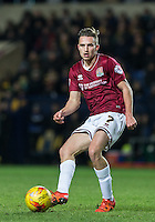 Lawson D'Ath of Northampton Town in action during the Sky Bet League 2 match between Oxford United and Northampton Town at the Kassam Stadium, Oxford, England on 16 February 2016. Photo by Andy Rowland.