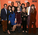 "Steven Levenson, Odessa Young, Lauren Patten, J. Alphonse Nicholson, Tavi Gevinson, Mike Faist,  Carole Rothman and company attends the After Party for the Second Stage Production of ""Days Of Rage"" at Churrascaria Platforma on October 30, 2018 in New York City."