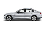 Car Driver side profile view of a 2017 BMW 3-Series-Plug-In-Hybrid Sport 4 Door Sedan Side View