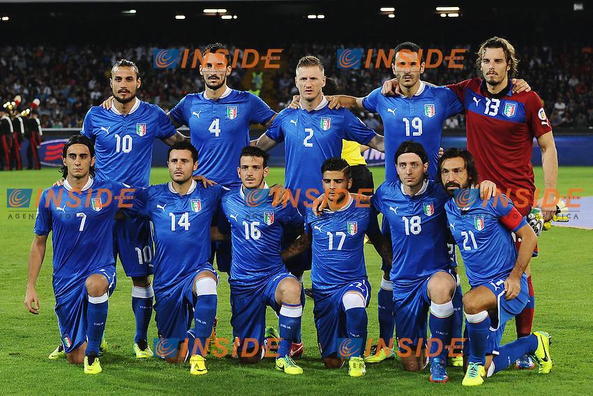 Formazione Italia . Italy Team lineups <br /> Napoli 15-10-2013 Stadio San Paolo <br /> Football Calcio Fifa World Cup 2014 Qualifiers <br /> Europe Group B <br /> Italia - Armenia <br /> Italy - Armenia <br /> Foto Andrea Staccioli Insidefoto