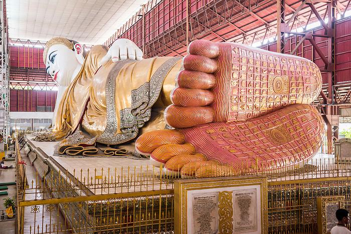 66m Reclining Buddha at Chauk Htat Gyi (Chaukhtatgyi ...