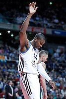 Real Madrid's Marcus Slaughter during Euroleague 2012/2013 match.January 11,2013. (ALTERPHOTOS/Acero) /NortePhoto
