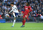 Dele Alli of Tottenham Hotspur is challenged by Renato Sanches of Swansea City  during the premier league match at the Wembley Stadium, London. Picture date 16th September 2017. Picture credit should read: Robin Parker/Sportimage