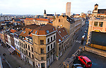 BRUSSELS - BELGIUM - 06 JANUARY 2012 -- Marolles the bohemian city part of Brussels. -- View over the Marolles from the Palais de Justice. -- PHOTO: Juha ROININEN /  EUP-IMAGES