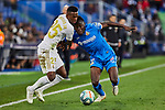 Damian Suarez of Getafe FC and Vinicius Junior of Real Madrid during La Liga match between Getafe CF and Real Madrid at Coliseum Alfonso Perez in Getafe, Spain. January 04, 2020. (ALTERPHOTOS/A. Perez Meca)