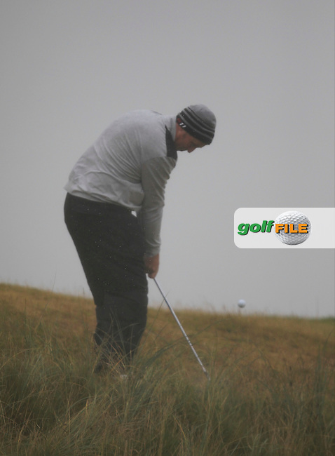 Paul O'Hara (Kilkenny) on the 6th during the South of Ireland Amateur Open Championship Semi-Finals at Lahinch Golf Club  31th July 2013 <br /> Picture:  Thos Caffrey / www.golffile.ie