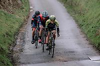 Grace Brown (AUS/Mitchelton-Scott) & 2 compangons on the attack<br /> <br /> Omloop van het Hageland 2019<br /> 133km from Tienen to Tielt - Winge (BEL)<br /> <br /> ©JoJo Harper for Kramon