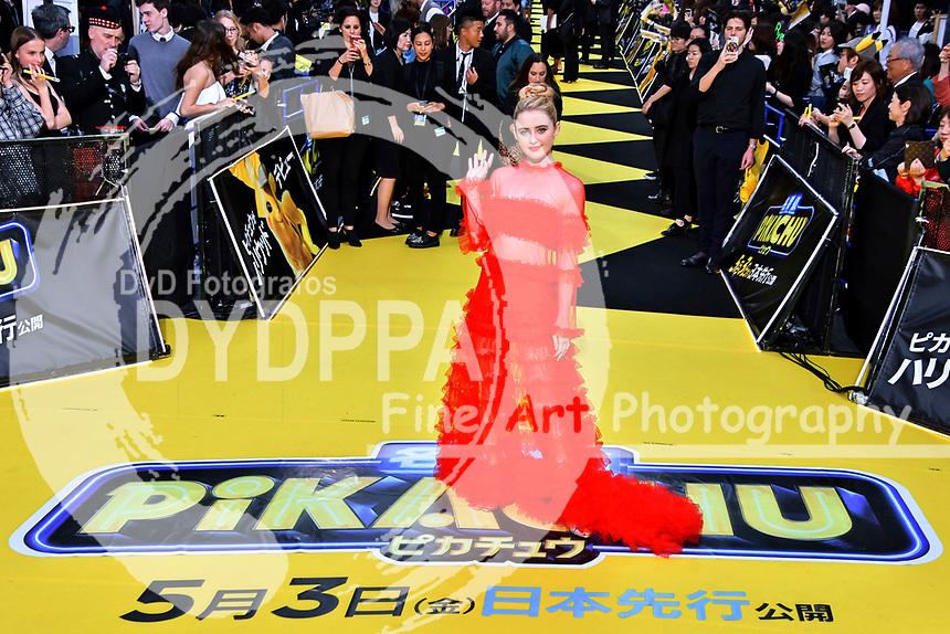 Kathryn Newton bei der Weltpremiere des Kinofilms 'Pokémon Detective Pikachu / Pokémon Meisterdetektiv Pikachu' in Kabukicho. Tokio, 24.04.2019