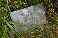 BNPS.co.uk (01202 558833)<br /> Pic: Phil Yeomans/BNPS<br /> <br /> Memorial stone in the old Baptist cemetery.<br /> <br /> Abandoned villlage becomes a hive of activity once more.<br /> <br /> The deserted village of Imber in the heart of Salisbury Plain has new residents again - 70 years after the army controversially kicked out the 200 parishoners during WW2.<br /> <br /> Bee farmer Chris Wilkes has placed 12 hives of the plucky British black bee behind St Giles church in the hamlet to feast on the extraordinary wildflower habitat of the plain that has been protected from pesticides and intensive farming siince the Army moved in.<br /> <br /> The isolation of the village will in fact ensure that the unique colony can thrive five miles from competing honey bee populations and with a cornucopia of the top nectar producing flowers in the UK surviving on the chalk downlands to feed on Mr Wilkes is hoping that the population will establish itself and produce a honey with the distinctive flavour of one of Britains last wilderness areas.