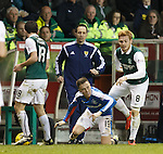 Barrie McKay and Fraser Fyvie tangle