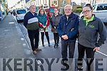 Frustrated show owners and traders on Church Street, Listowel who have serious concerns due to the loss of water on their street. <br /> Front l to r: Denis Fitzpatrick (Fitzpatrick Taxis) and Kerry Brassil (Listowel Garden Centre).<br /> Back l to r: Pierce Walsh (John R's Food Hall), Liz Donoghue (Hair Gallery) and Sandra Shanahan (Sandra's Hair Salon).
