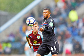 10th September 2017, Turf Moor, Burnley, England; EPL Premier League football, Burnley versus Crystal Palace; Jaïro Riedewald of Crystal Palace controls the ball with his chest