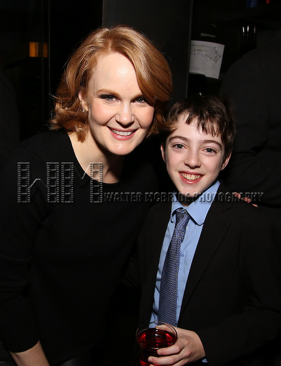 Kate Baldwin and Noah Hinsdale attend the DGF Reception for Andrew Lippa & Friends at Landmarc on February 1, 2017 in New York City.