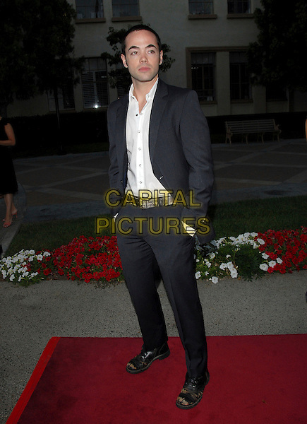 JOHN HENSLEY.The FX Season 4 Premiere Screening of Nip/Tuck held at The Paramount Studios in Hollywood, California, USA..August 25th, 2006.Ref: DVS.Nip Tuck full length blue pinstripe suit hands in pockets .www.capitalpictures.com.sales@capitalpictures.com.©Debbie VanStory/Capital Pictures