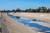 Rio Hondo channel, Rio Hondo Spreading Grounds, Water Replenishment District – WRD, Pico Rivera, Los Angeles County