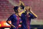 UEFA Women's Champions League 2017/2018.<br /> Round of 16.<br /> FC Barcelona vs Gintra Universitetas: 3-0.<br /> Alexia Putellas &amp; Marta Torrejon.