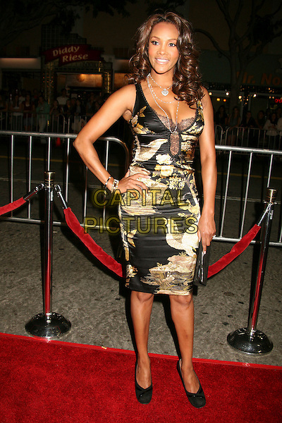 "VIVICA A. FOX.Paramount Vantage Presents Special Screening of ""Babel"" at Mann's Village Theatre, Westwood, California, USA..November 5th, 2006.Ref: ADM/BP.full length black yellow dress hand on hip asian mandarin style chinese print.www.capitalpictures.com.sales@capitalpictures.com.©Byron Purvis/AdMedia/Capital Pictures."