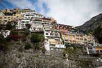 Homes above the sea port in Positano, Italy are seen on Sunday, Sept. 20, 2015. (Photo by James Brosher)