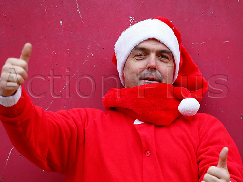 26th December 2017, Thomond Park, Limerick, Ireland; Guinness Pro14 rugby, Munster versus Leinster; A Munster supporter dressed in a santa clause outfit
