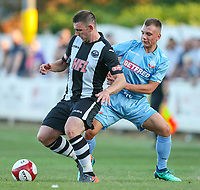 Bolton Wanderers' Boris Jaloszynski battles with Atherton Collieries' Dave Sherlock<br /> <br /> Photographer Alex Dodd/CameraSport<br /> <br /> Football Pre-Season Friendly - Atherton Collieries v Bolton Wanderers - Tuesday 10th July 2018 - Alder House - Atherton<br /> <br /> World Copyright &copy; 2018 CameraSport. All rights reserved. 43 Linden Ave. Countesthorpe. Leicester. England. LE8 5PG - Tel: +44 (0) 116 277 4147 - admin@camerasport.com - www.camerasport.com