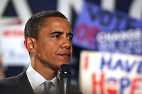 President Obama, still looking fresh during a 2008 Obama campaign rally in Boston.