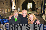 Eileen Broderick, Joe Murphy and Trish McMahon at Saint Johns arts centre and theatre in the Square Listowel on Tuesday