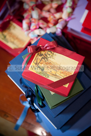 Boxes of hand crafted confectionery and chocolates at 'Stratta' established 1836, Turin, Italy