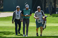 Jordan Spieth (USA) and his caddie/Dad head to 16 during round 3 of the World Golf Championships, Mexico, Club De Golf Chapultepec, Mexico City, Mexico. 2/23/2019.<br /> Picture: Golffile | Ken Murray<br /> <br /> <br /> All photo usage must carry mandatory copyright credit (© Golffile | Ken Murray)