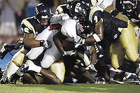 Florida International University Golden Panthers (0-5, 0-2) football versus Arkansas State University Indians (2-2, 1-0) at Miami, Florida on Saturday, September 30, 2006.  The Indians defeated the Golden Panthers 31-6...Defensive goal-line stand.