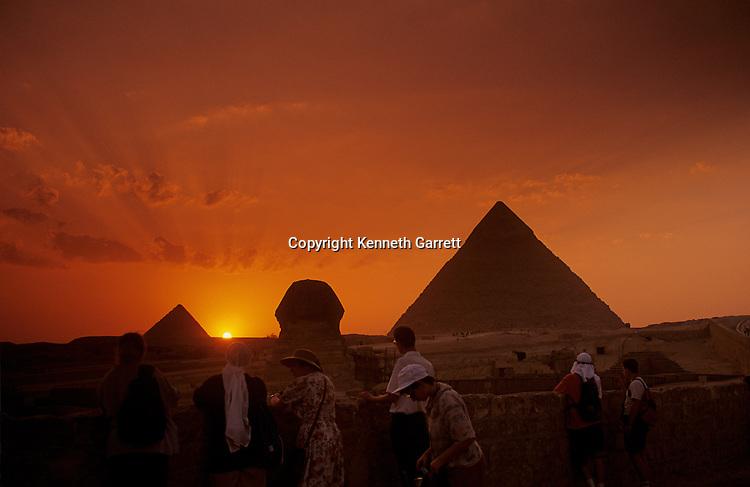 Egypt's Old Kingdom; Pyramid at Giza;Sphinx, Giza; Egypt