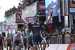 Lukas Postlberger (AUT) Bora-Hansgrohe outsmarts the peloton and gets away in the last kilometer to win Stage 1 of the 100th edition of the Giro d'Italia 2017, running 206km from Alghero to Olbia, Sardinia, Italy. 4th May 2017.<br /> Picture: Eoin Clarke | Cyclefile<br /> <br /> <br /> All photos usage must carry mandatory copyright credit (&copy; Cyclefile | Eoin Clarke)<br /> <br /> All photos usage must carry mandatory copyright credit (&copy; Cyclefile | LaPresse)