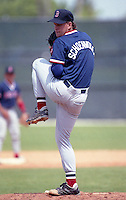 Boston Red Sox pitcher Chad Schoenvogel during Spring Training circa 1992 at Chain of Lakes Park in Winter Haven, Florida.  (MJA/Four Seam Images)