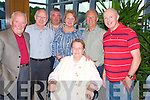 Enjoying the Donegal Association in Kerry's inaugural meeting in the Quality Hotel, Killarney on Saturday night were George Devlin, Mick McNulty, Sean Gallagher, Margaret McElliggott, Hugh Friel, Seamus Friel and Agnes Twomey.