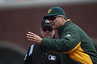 SAN FRANCISCO - MAY 22:  Manager Bob Geren #17 of the Oakland Athletics argues with first base umpire Jerry Meals during the game against the San Francisco Giants at AT&T Park on Sunday, May 22, 2011 in San Francisco, California. Photo by Brad Mangin