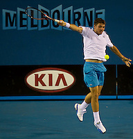 Stanislas Wawrinka (SUI) (19) against Marin Cilic (CRO) (14) in the Third Round of the Mens SIngles. Cilic beat Wawrinka 4-6 6-4 6-3 6-3..International Tennis - Australian Open Tennis - Fri 22 Jan 2010 - Melbourne Park - Melbourne - Australia ..© Frey - AMN Images, 1st Floor, Barry House, 20-22 Worple Road, London, SW19 4DH.Tel - +44 20 8947 0100.mfrey@advantagemedianet.com