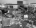 A local grocery store suffered extensive damage during the flood.