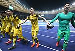 16.03.2019, OLympiastadion, Berlin, GER, DFL, 1.FBL, Hertha BSC VS. Borussia Dortmund, <br /> DFL  regulations prohibit any use of photographs as image sequences and/or quasi-video<br /> <br /> im Bild Dortmunder Spieler, Marco Reus (Borussia Dortmund #11)<br /> , Jadon Malik Sancho (Borussia Dortmund #7)<br /> <br />       <br /> Foto © nordphoto / Engler