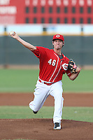 Brian Pearl #46 of the AZL Reds pitches against the AZL Brewers at the Cincinnati Reds Spring Training Complex on July 5, 2014 in Goodyear Arizona. AZL Reds defeated the AZL Brewers, 7-2. (Larry Goren/Four Seam Images)