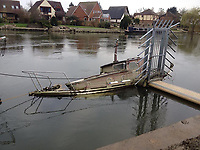 BNPS.co.uk (01202 558833)<br /> Pic: MattCain/BNPS<br /> <br /> Floundering after floods in 2014. <br /> <br /> A lifeboat which was present at Dunkirk is set to sail there on the 80th anniversary of the mass evacuation after being painstakingly restored.<br /> <br /> The Lady of Mann was lifeboat number eight on board the passenger ship RMS Lady of Mann, which brought 4,262 men back to England in May 1940.<br /> <br /> It was also on the Isle of Man Steam Packet Company vessel when it carried six landing craft, 55 officers and 435 troops to Juno Beach on D-Day in June 1944.<br /> <br /> After the ship was broken up in 1971, the 27ft lifeboat was sold off and converted into a fishing boat which operated out of Maldon, Essex. It had been languishing in a rotting, dilapidated state in an Essex boatyard when IT manager Matt Cain paid £3,000 for it in 2009 after spotting it for sale online.<br /> <br /> The boat sank at its mooring in Windsor, Berks, during the floods of February 2014. Since then, Mr Cain, whose grandfather was evacuated at Dunkirk, has spent over £30,000 returning it to its former glory.