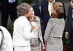 Sofia Queen of Spain (l), Princess Letizia of Spain (c) and Infanta Elena of Spain attend the National Day Military Parad.October 12,2012.(ALTERPHOTOS/Acero)