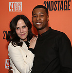 """Mary Louise Parker and J. Alphonse Nicholson attends the After Party for the Second Stage Production of """"Days Of Rage"""" at Churrascaria Platforma on October 30, 2018 in New York City."""