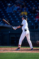 Oregon State Beavers Jake Harvey (2) at bat during an NCAA game against the New Mexico Lobos at Surprise Stadium on February 14, 2020 in Surprise, Arizona. (Zachary Lucy / Four Seam Images)